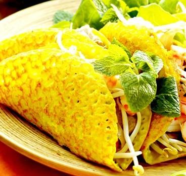 Bánh xèo tôm thịt Nam Bộ - Món ăn đặc trưng của Miền Tây sông nước